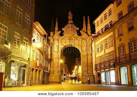 Arch Of The New Gate (Arco Da Porta Nova), Braga, Portugal