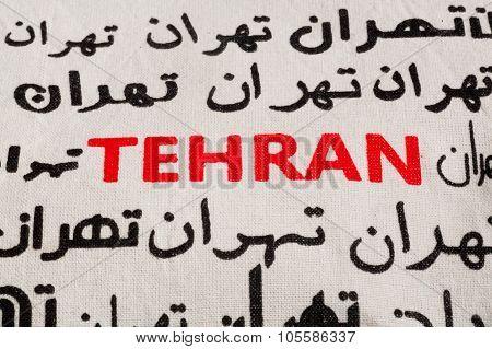 Persian And English Name Of Iranian Capital Tehran