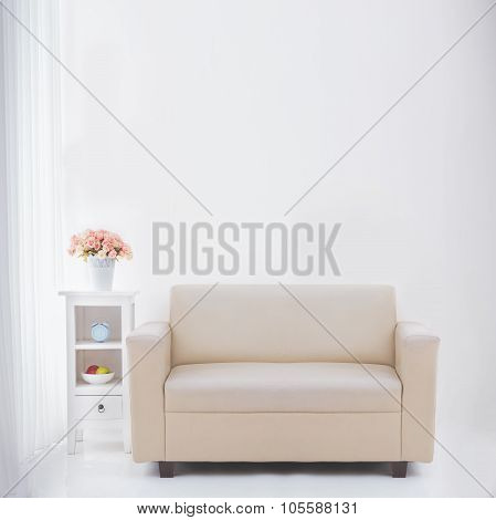 Living Room With Blank Copyspace