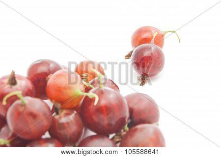 Heap Of Red Gooseberries