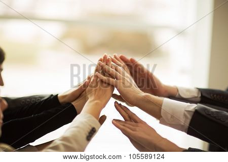 The Folding Of Hands Together And Raise Them Up.