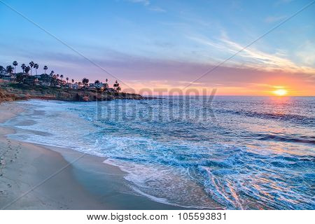 Magnificent Sunset In La Jolla  California