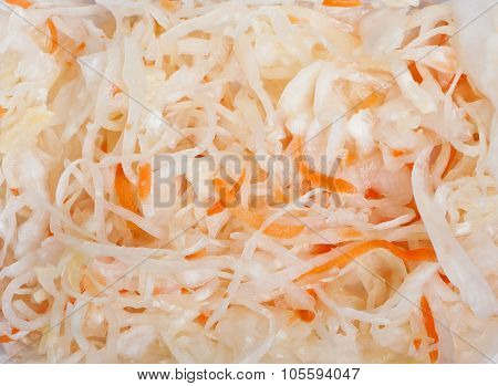 Juicy cabbage sauerkraut texture