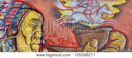 Mural amerindian