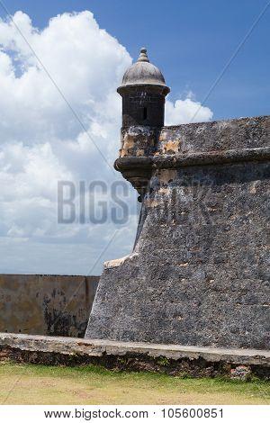 Tower In Castillo San Felipe Del Morro, Puerto  Rico