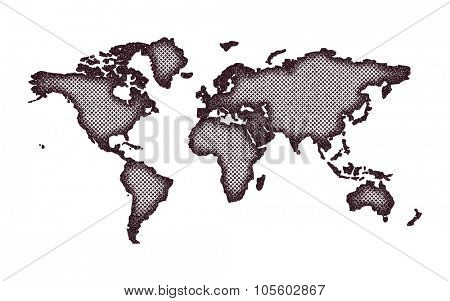 World map.Vector illustration. Grunge style