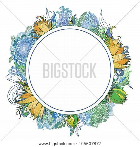 Summer Vector Floral Wreath
