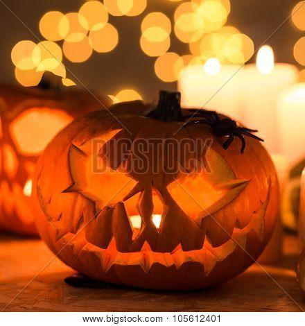 Scary Pumpkin Lantern
