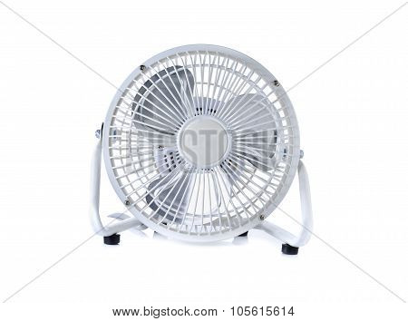 Small Portable Fan On White Background