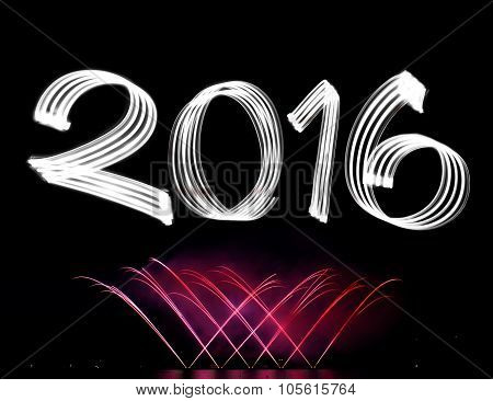 New Year's Eve 2016 With Fireworks