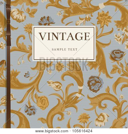Classic Vintage vector background in Baroque style.