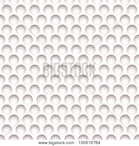 White paper background with holes and shadow effect