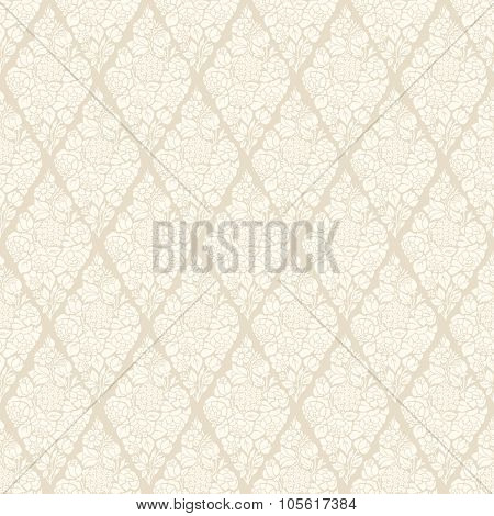 Seamless luxury vector vintage pattern with stylized flowers bouquets