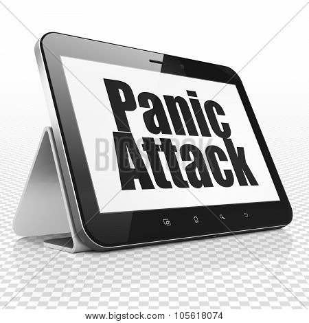 Health concept: Tablet Computer with Panic Attack on display
