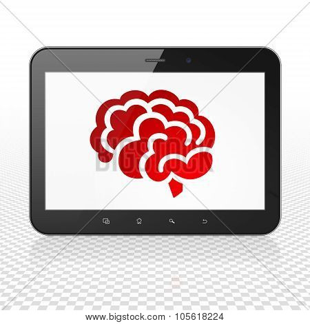 Health concept: Tablet Computer with Brain on display