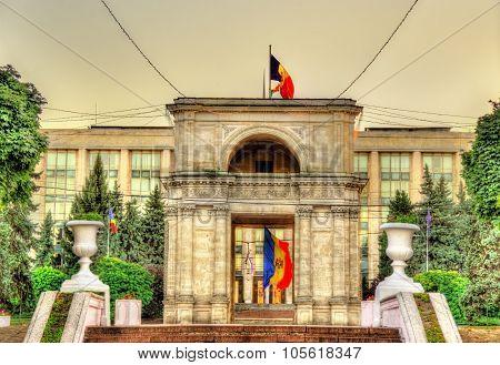 View Of The Triumphal Arch In Chisinau - Moldova