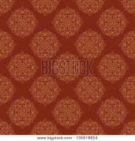 Seamless vector vintage terracotta pattern