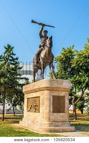Statue Of Petar Chaulev In Skopje - Macedonia