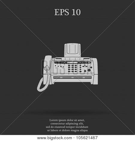 Fax Machine  Flat Design Style