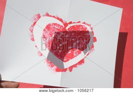 Sponge Print Heart Demo