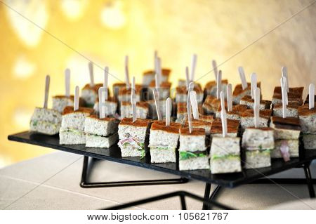 Appetizers On A Buffet Table