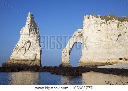 Horizontal View Of Etretat Aval Cliff