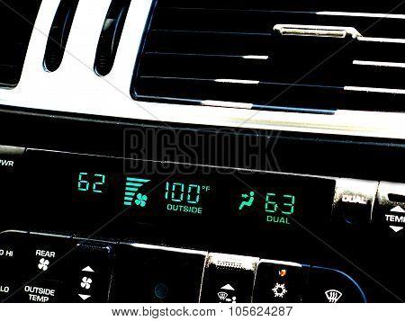 Hot temperature car instrument panel