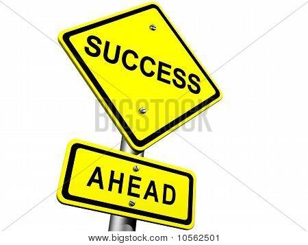 Éxito por delante