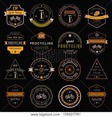 Badges And Logo Cycling