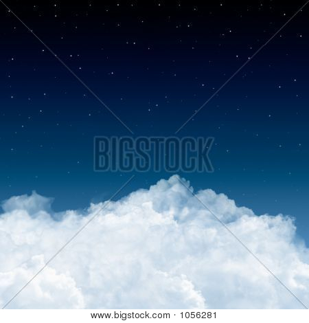 Clouds And Stars In Blue