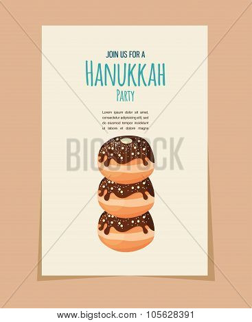 Hanukkah doughnut ,jewish holiday food
