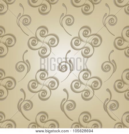 curls seamless pattern