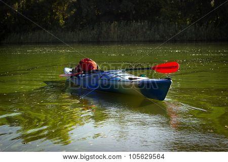 Kayak in open water.