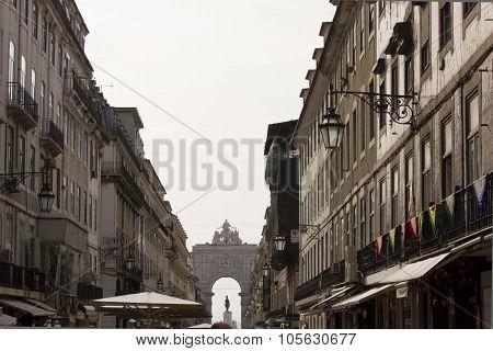 Buildings In Rua Augusta In Lisbon