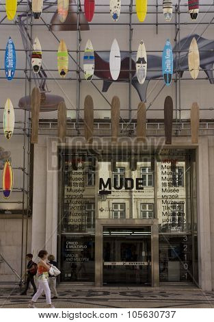 The Facade Of Mude Museum, Lisbon