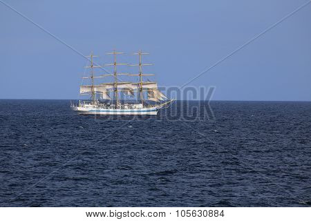 The Sailing Ship Mir Of The Russian Shipping Company Rosmorport
