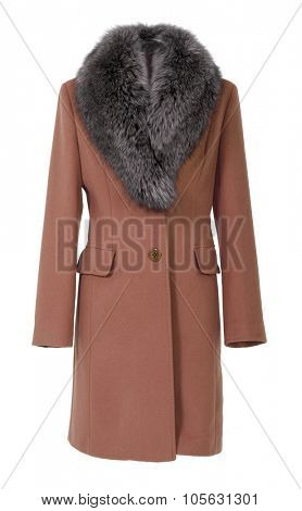 brown coat isolated on white