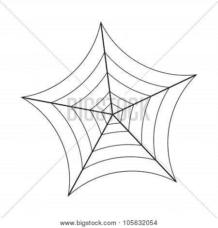 Halloween Spider Web, Cobweb Symbol, Icon. Vector Illustration Isolated On White Background.