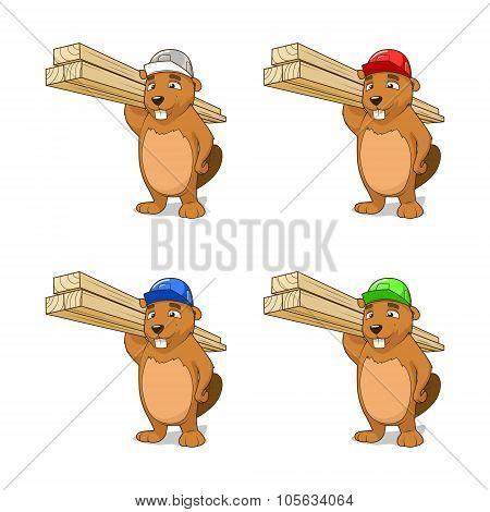 Beaver builder vector illustration
