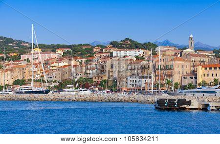 Port Of Propriano Landscape, Corsica, France