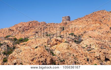 Ancient Genoese Tower, Corsica Island, France