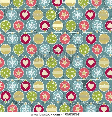 Colour Background With Christmas Balls, Vector
