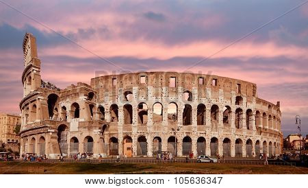 ROME, ITALY - SEPTEMBER15, 2011: Colosseum  is the largest amphitheatre in the world located in the center of Rome, Italy.