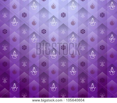 Christmas Purple Background