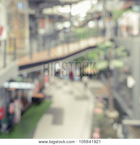 Shopping Mall Blur Abstract Background