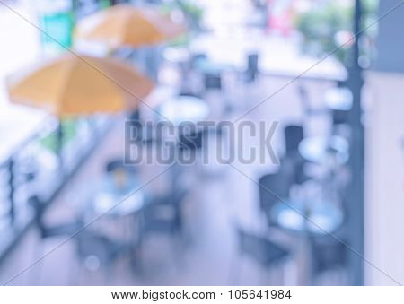 Blurred Outdoor Cafe Background