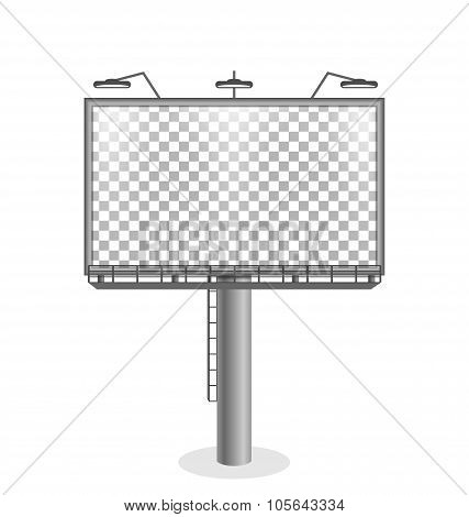 Billboard isolated on white background