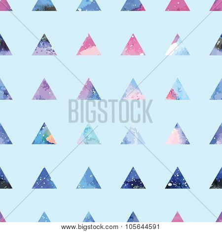 Triangles seamless pattern.