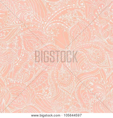 Seamless Floral Paisley Pattern