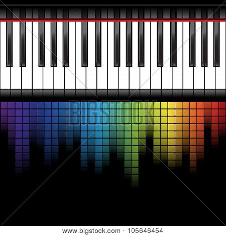 black piano template
